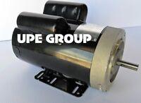 5 Hp 21 Fl Amp 3450 Rpm Electric Motor For Air Compressor 56 Frame 5/8 Shaft