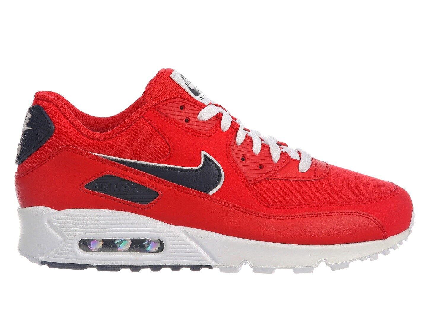 Nike air max 90 essenziale del pacchetto Uomo aj1285-601 rosso blu scarpe taglia