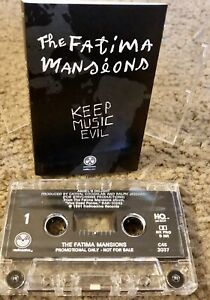 THE FATIMA MANSIONS KEEP MUSIC EVIL CASSETTE TAPE PROMOTIONAL ONLY NOT FOR SALE