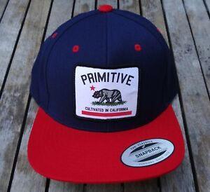 f8071c89b48e0 Image is loading NEW-PRIMITIVE-APPAREL-SKATE-CULTIVATED-NAVY-RED-FRONT-