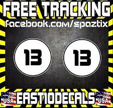 12 Circle Rally Side Car Door Number Jdm Mini Vw Racing Sticker Vinyl Decal