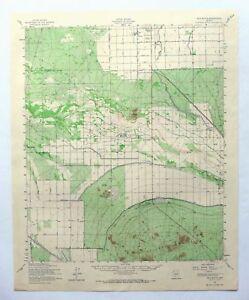 Gila Butte Arizona Vintage Usgs Topographic Map 1952 Chandler Sun