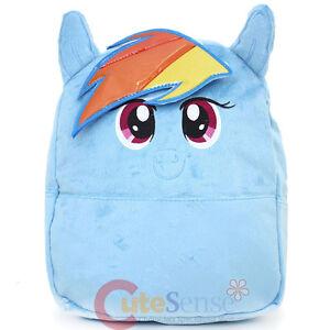 My-Little-Pony-Rainbow-Dash-Plush-School-Backpack-12-034-Small-Bag-with-Ear