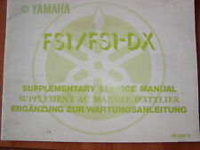 Yamaha FS 1 Wartungsanleitung Ergänzung von 1977 supplementary service manual