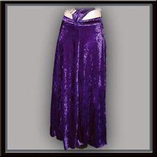 NEU Rock Violett Lang L XL 42 Gothic Samtrock Larp Lila Halloween Mittelalter
