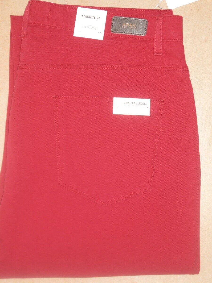 BRAX Jeans Stretchjeans Style Carola brombeere rot leichte Ganzjahresware  Neu