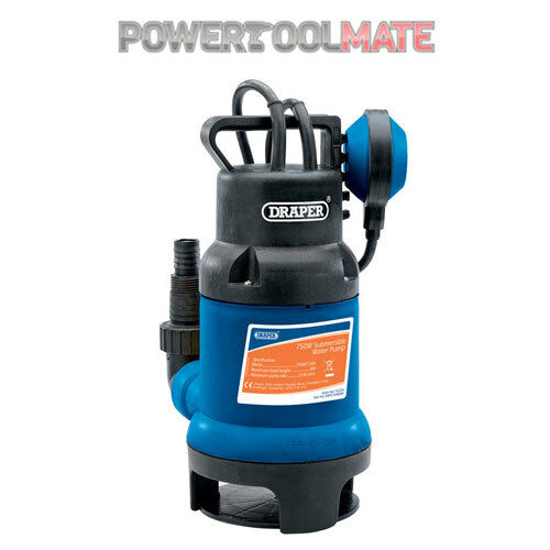 Draper 76335 210L/Min 750W Submersible Dirty Water Pump with Float Switch