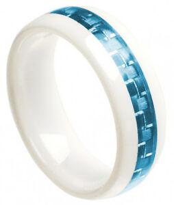 image is loading 8mm white ceramic ring men women wedding band