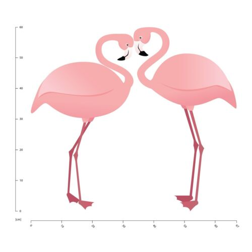 Pair Of Pink Flamingos Wall Sticker WS-44912