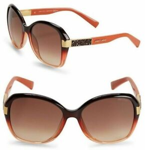 d0c501dab65f JIMMY CHOO ALANA F S Square Sunglasses Gold Brown Orange Gradient ...