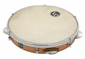 LP-Latin-Percussion-LP-3010N-10-039-039-Wood-Pandeiro-Natural-inkl-Tasche
