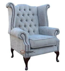 Chesterfield Armchair Queen Anne High Back Wing Chair