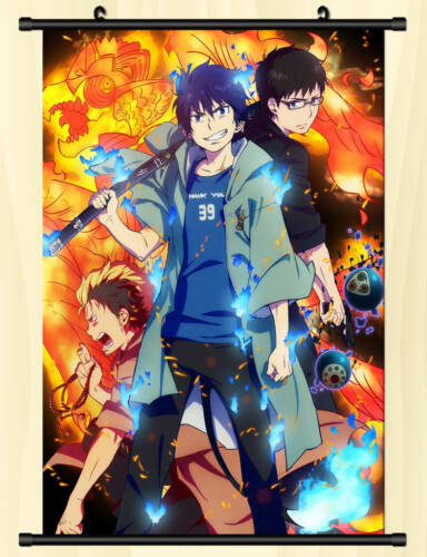Anime Blue Exorcist Ao no Ekusoshisuto Rin Okumura Wall Scroll Poster 40cm*60cm