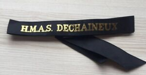 H-M-A-S-DECHAINEUX-GENUINE-RAN-TALLY-BAND-220-SHIPS-NAMES-AVAILABLE