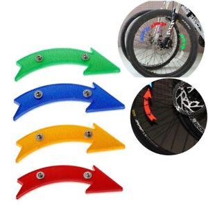2 Pcs Road Bike Bicycle Reflector Cycling Arrow Shape Safe Warning AccessoriTRDR