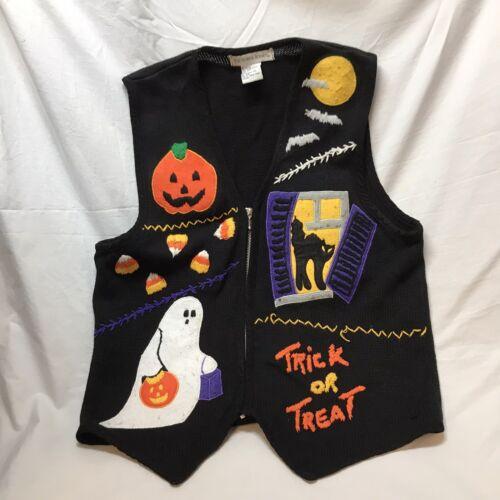 Halloween Sweater Vest Victoria Jones Womens Large