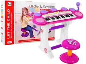 Pianola musicale con microfono tastiera elettronica con sgabello per