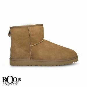 3f052d09bfc Details about UGG CLASSIC MINI CHESTNUT SUEDE WATERPROOF SHEEPSKIN MEN'S  BOOTS SIZE US 10 NEW
