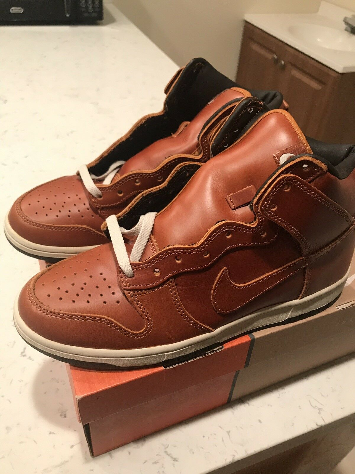 2003 Nike Dunk High Premium Curry Size 9 - Not Co.JP SB Supreme
