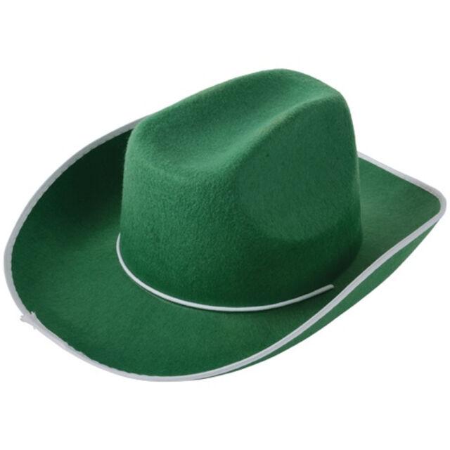 Buy Green Cowboy or Cowgirl Cow Boy Felt Costume Party Hat online  22cabb6af07
