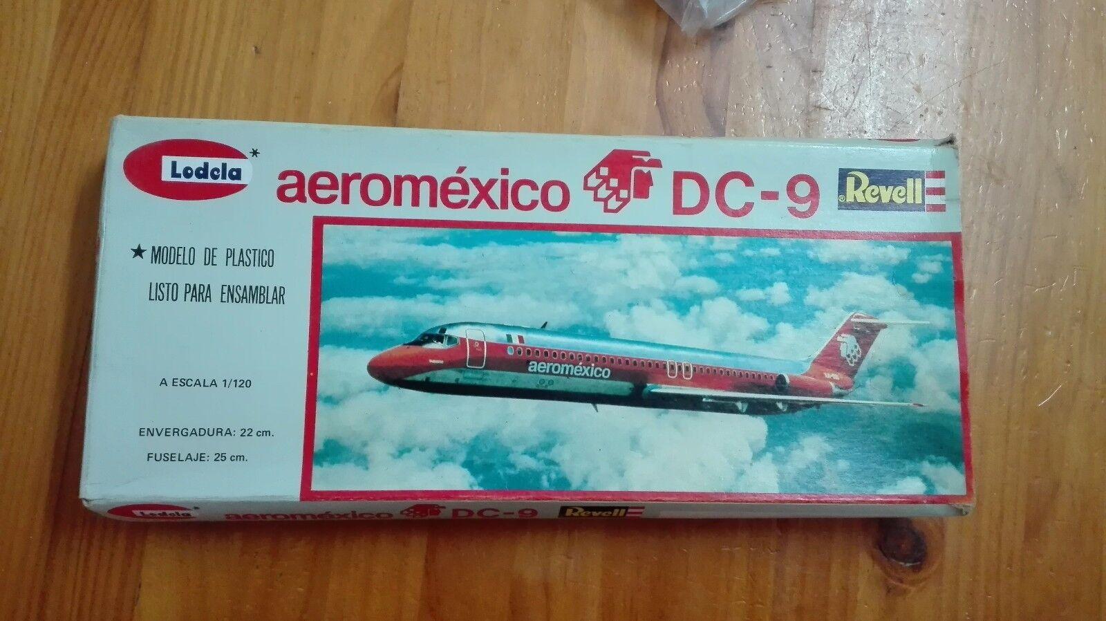AEROMEXICO DC DC DC 9 LODELA REVELL ESCALA  1 120 6fb411
