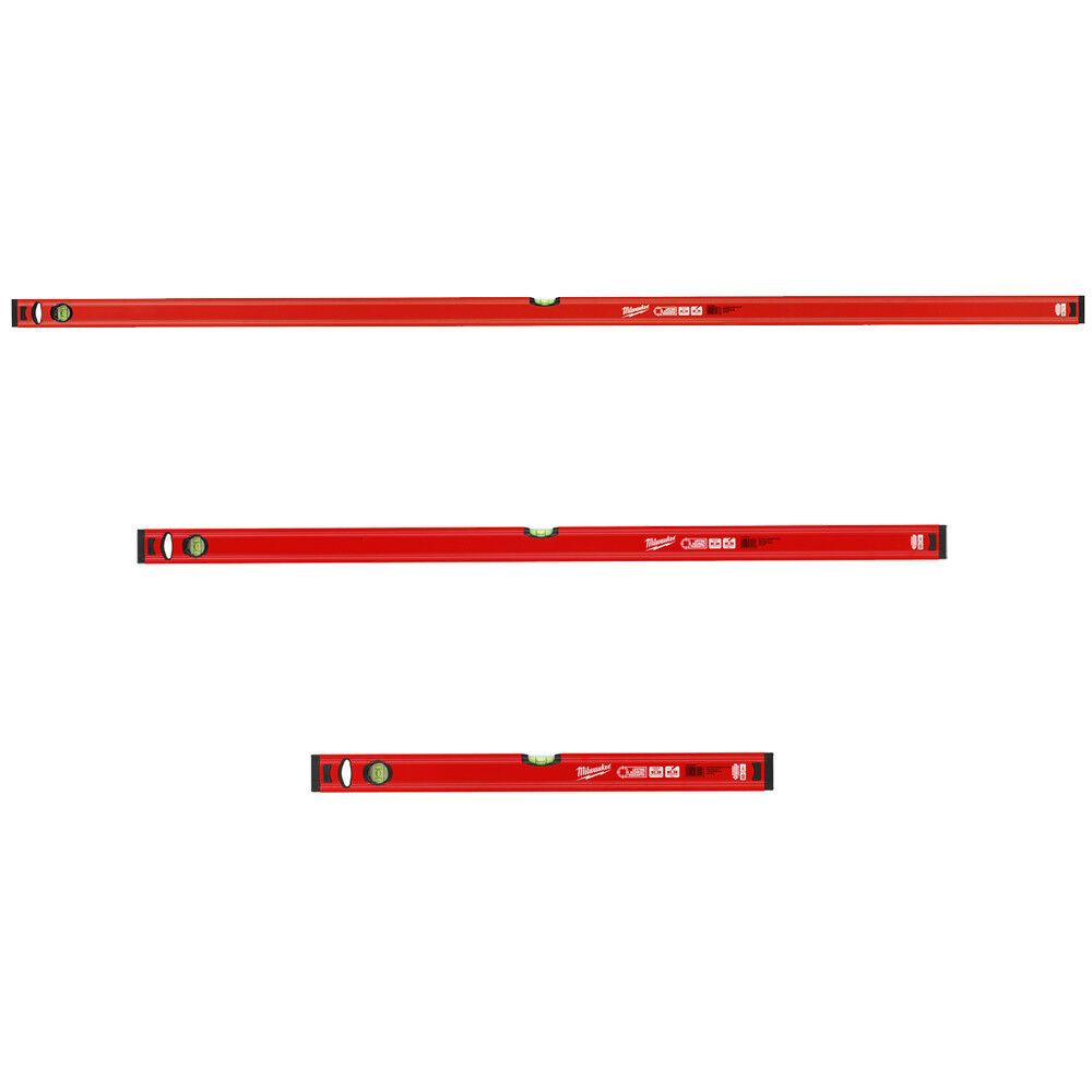 Milwaukee Wasserwaagen-Set Slim 3-tlg. 180 cm + 120 cm + 60 cm Promo 4932459379