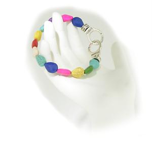 Freedom-Handcuff-USA-Artisan-Boho-Howlite-Bead-Stretch-Bracelet-Free-Gift-Box