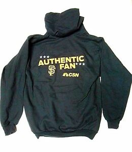 the best attitude c5415 43f7e Details about NEW MED San Francisco SF Giants AUTHENTIC FAN Hoodie  Sweatshirt SGA CSN Baseball