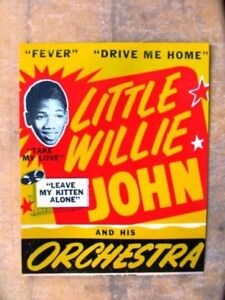 R-amp-B-BLUES-PHOTO-LITTLE-WILLIE-JOHN-and-His-Orchestra-color-poster-8x10-repro