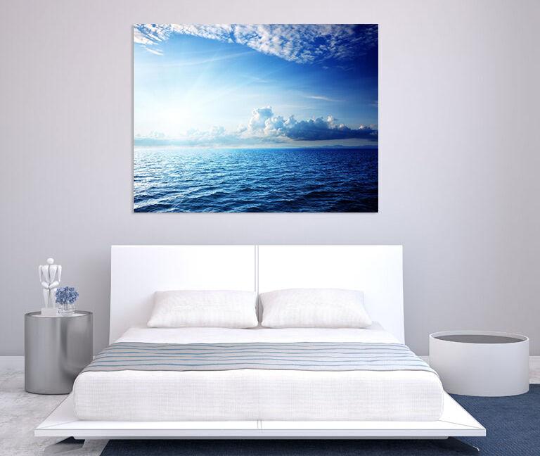 3D bluees Meer 63 Fototapeten Wandbild BildTapete Familie AJSTORE DE