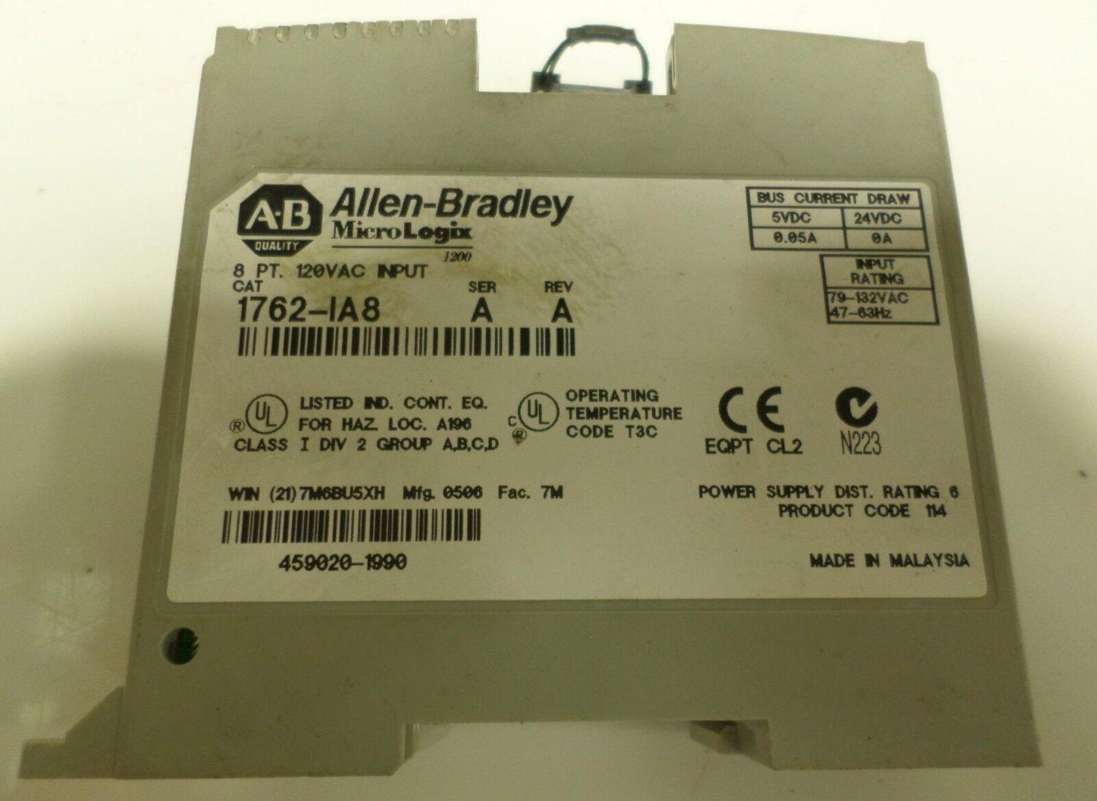 1762IA8 AB PLC Input Module 1762-IA8 Factory Sealed ! New In Box