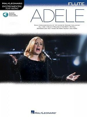 Straightforward Adele Flute Instrumental Play-along Book And Audio New 000159650 Musical Instruments & Gear Wind & Woodwinds