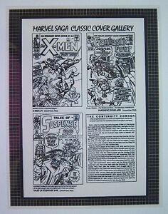 Original Production Art MARVEL SAGA Classic cover gallery