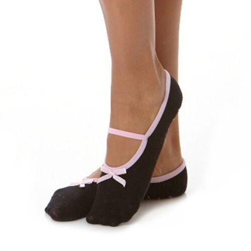 Non-Slip Black//Purple Kushyfoot Women/'s Slipper Socks