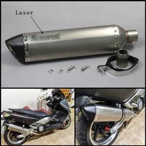 570mm-Motorcycle-Laser-Mark-Exhaust-Muffler-DB-Killer-Escape-Silencer-Vent-Pipe