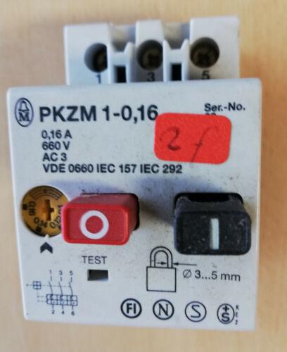 Moeller Motorschutzschalter PKZM1-0,16,PKZM1-0,6,PKZM1-1  A gebraucht PKZM 1