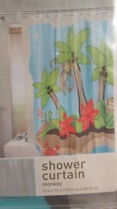 Image Is Loading Home For Target Monkey Coconut Trees Shower Curtain