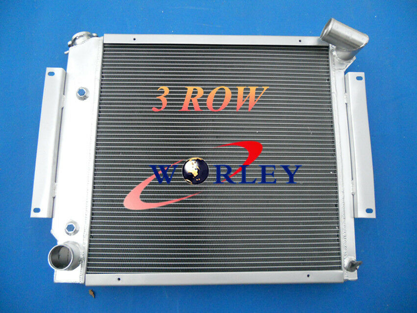 3 Row aluminum radiator for International Scout II/&Pickup 5.0L 5.6L V8 1970-1981