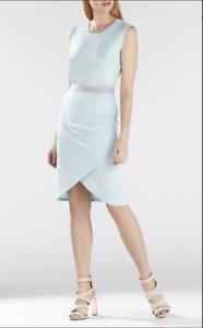 NWoT BCBG Max Azria Mikela Wrapped Shirrot Skirt DressXS