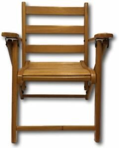 Childs Folding Chair Wood Wooden Slat Childrens Kids Size