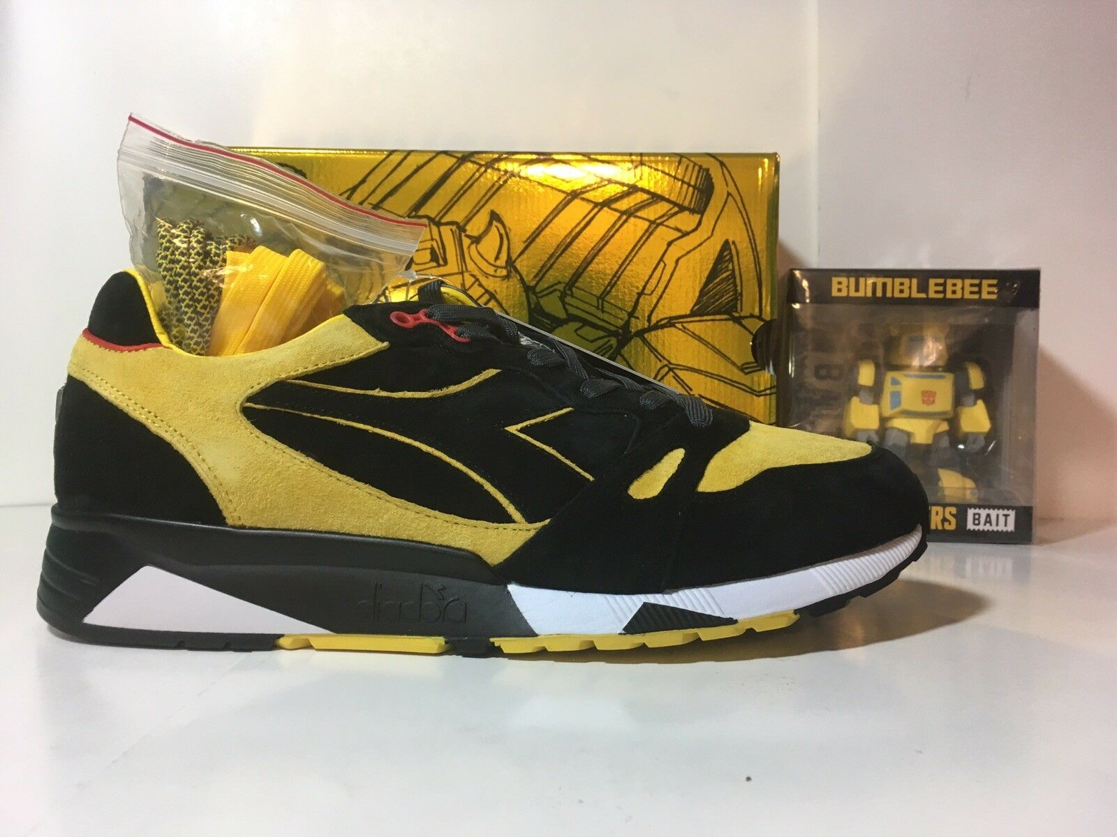 BAIT x Transformers x Diadora Men S8000 Bumblebee Size 12 FIGURE CONFIRMED