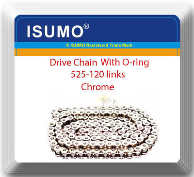 With O-Ring Drive Chain Chrome Plated Pitch 520 x114  Links ATV Motorcycle