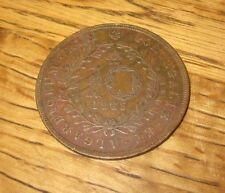Azores 1865- 10 Reis Coin
