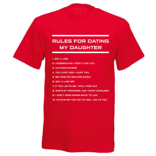 Rules For Dating My Daughter T-Shirt Boys Mens Funny TShirt T Shirt Fathers Day