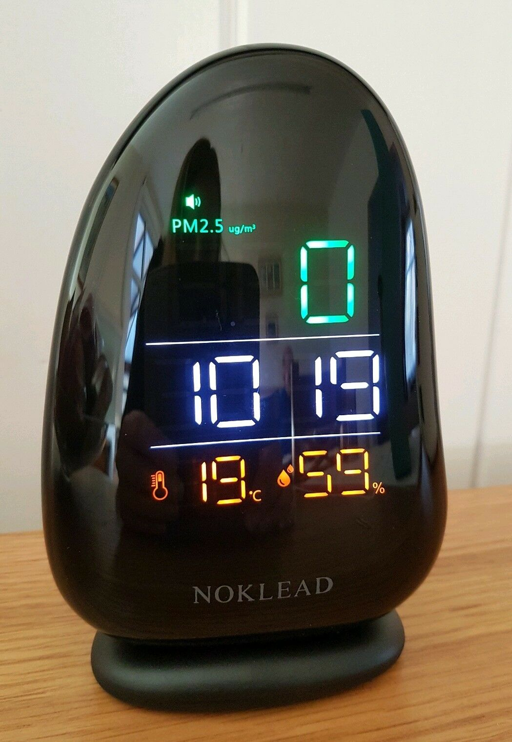 NOKLEAD Air Quality Monitor PM2.5 Temperature Rh Humidity Meter with Time for Ho
