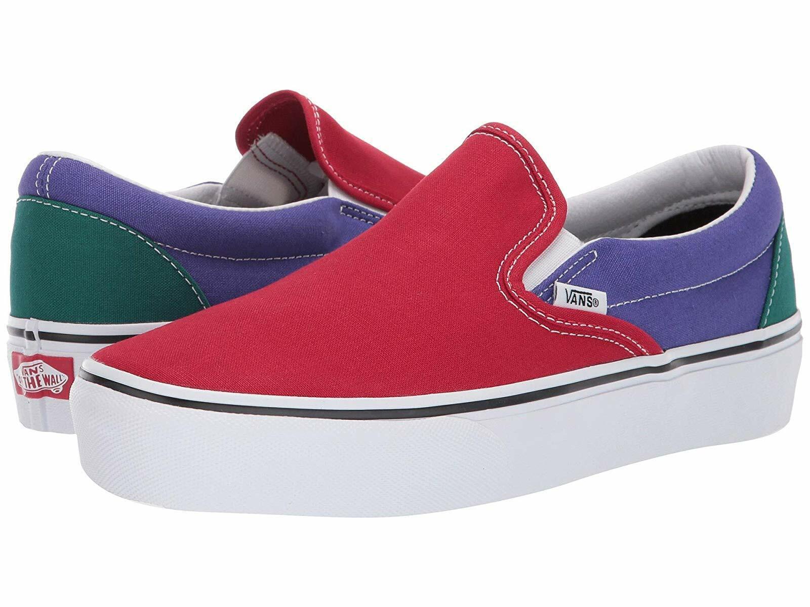 Le scarpe da ginnastica delle  donne e le scarpe atletiche Vans Classic Slip -On Platform  caldo