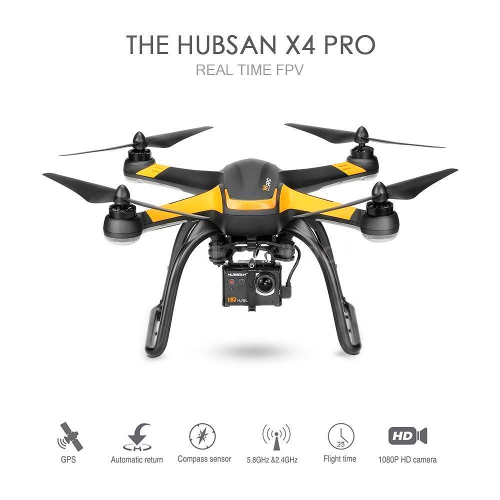 Hubsan X4 PRO H109S 5.8G cámara FPV HD 1080P GPS 7CH RC Quadcopter 1 Ejes Cardán
