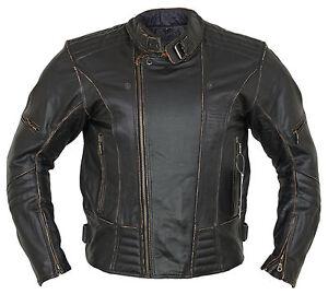 Uomo-Giacca-in-pelle-moto-biker-retro-Rocker-chopper-moto-Giacca-Antico