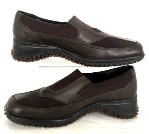 6f2453834f4 WOMENS LOAFER SIZE 8 B 39 EU Brown Leather Shoes Driving PAZZO PLAY ...