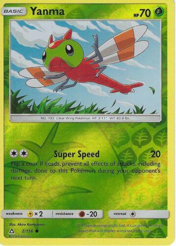 2//156 Yanma Pokemon SM Ultra Prism Card Reverse Holo